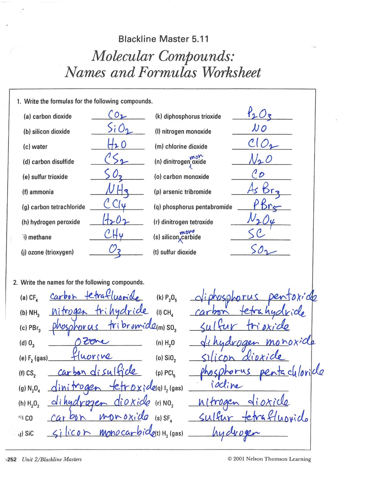 Mr Kasprick S Science 10 Class Cr2 Name And Write