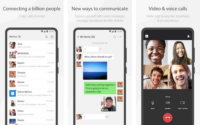 WeChat - أفضل تطبيقات التواصل الاجتماعي للاندرويد