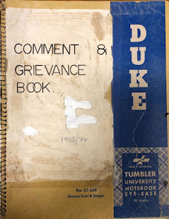 Comment & Grievance Book 1973/74