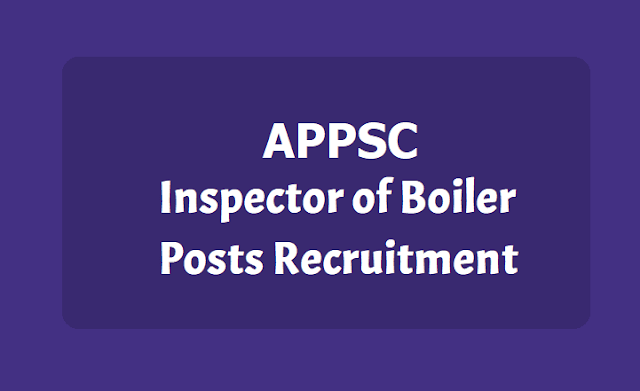 APPSC Inspector of Boiler Posts
