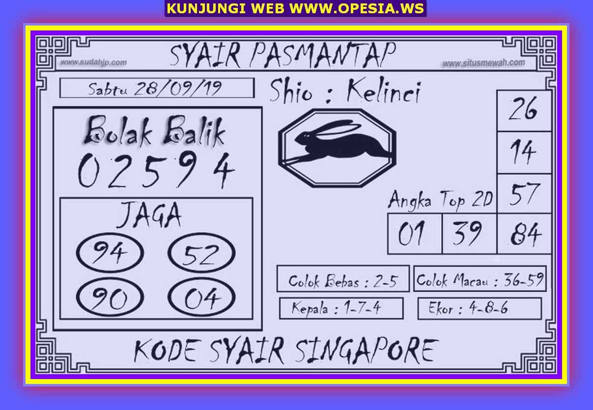 Syair sgp Sabtu 28 September 2019 77