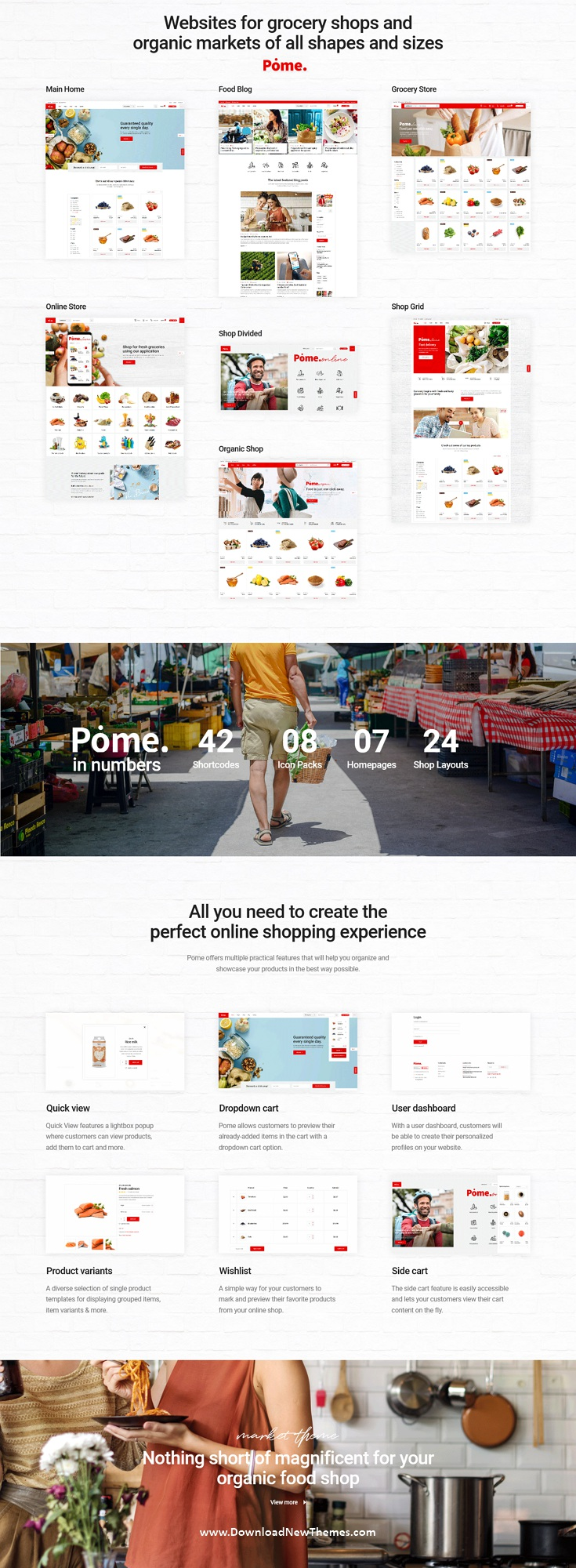 Pome - Food Store WordPress Theme