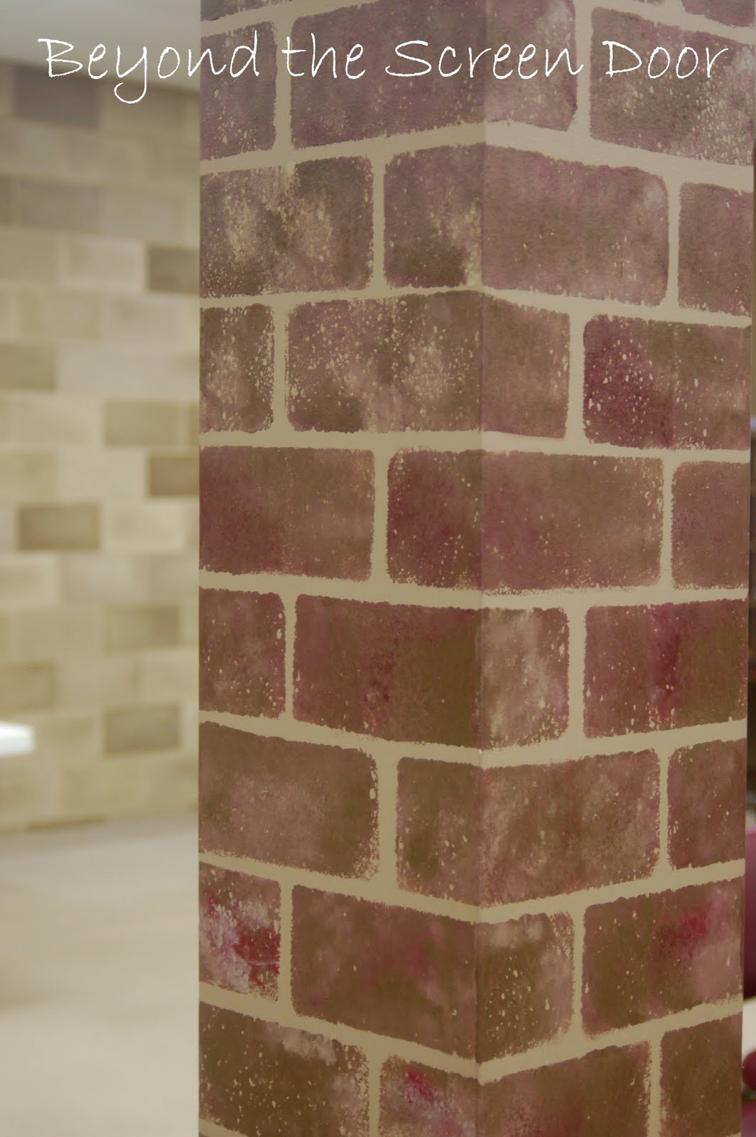 How To Paint Walls To Look Like Brick Sonya Hamilton Designs