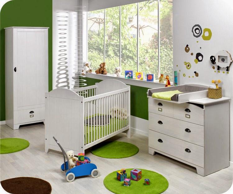 Dormitorio bebé color verde