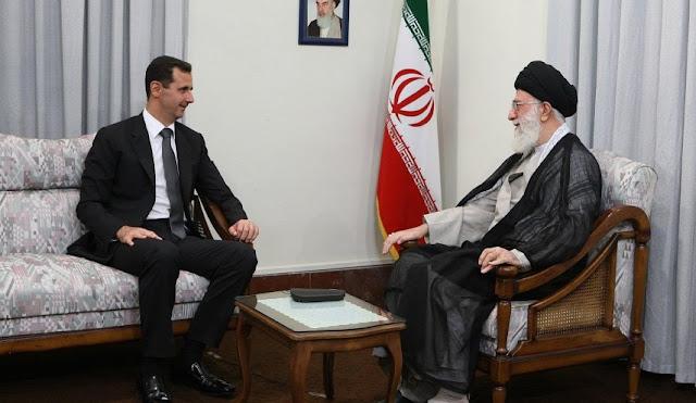 هذا ما أبلغه قائد الثورة للرئيس بشار الاسد