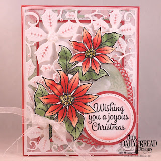 Our Daily Bread Designs Stamp/Die Duos: Joyful Christmas, Paper Collection: Christmas 2018, Custom Dies: Double Stitched Rectangles, Rectangles, Poinsettia Inset, Double Stitched Circles, Circles, Ovals, Ornate Ovals
