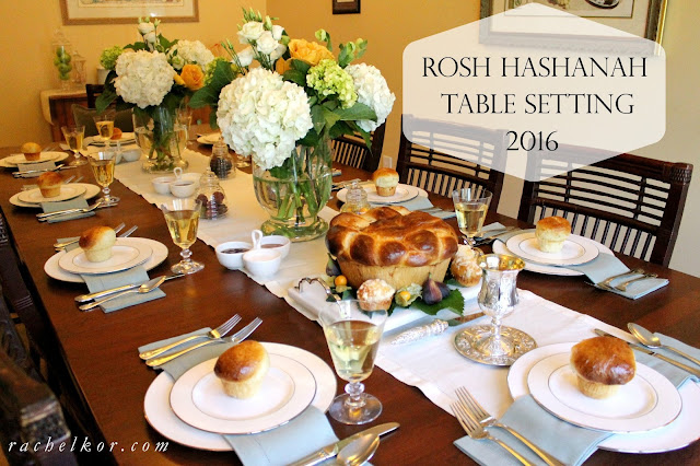 Having a beautiful table makes the holiday more special and is worth going the extra mile for! My Rosh Hashanah Table Setting is simple and easy to achieve.