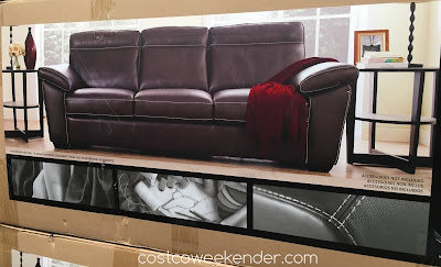Costco 1041123 - Natuzzi Group Leather Sofa features leather for your comfort