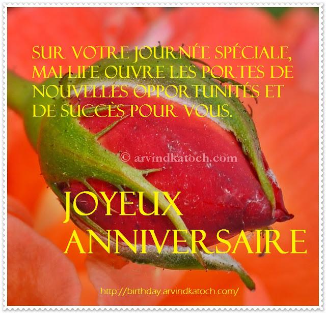 Journee Speciale Life Nouvelles Success Joyeux Anniversaire French Birthday