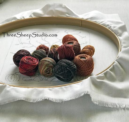 Punch Needle Perle Cotton Colors at ThreeSheepStudio.com