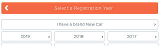 Car insurance premium calculator - step 7,select year,