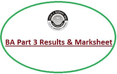 Kanpur University BA 3rd Year Result 2021