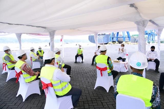 Presiden Jokowi akan Kembangkan  Ambon New Port Terintegrasi