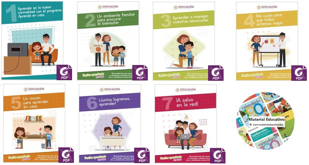 Familias aprendiendo en casa. Recomendaciones para apoyar el aprendizaje y bienestar de niñas, niños y adolescentes durante COVID-19.