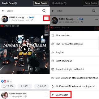 cara menyimpan video dari facebook lite ke galeri menggunakan aplikasi