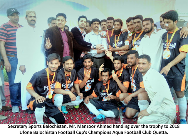 Ufone Balochistan Football Cup: Aqua FC Quetta claim the title of this year's championship