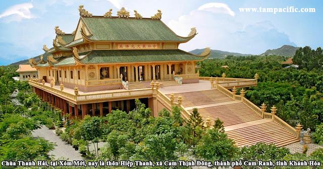 Chùa Thanh Hải, tại Xóm Mới, nay là thôn Hiệp Thanh, xã Cam Thịnh Đông, thành phố Cam Ranh, tỉnh Khánh Hòa