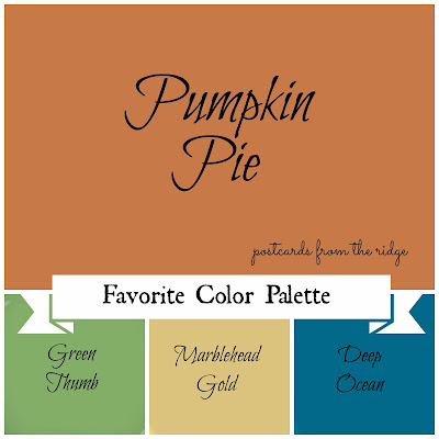 Favorite paint color fall edition postcards from the ridge for Pumpkin spice paint living room