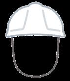作業員のヘルメットのイラスト(男性)