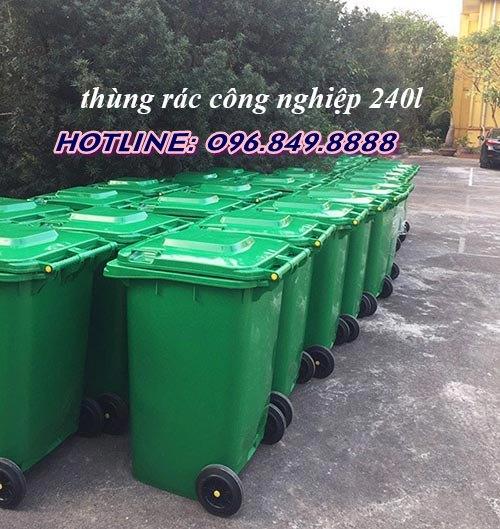 Hình ảnh thật thùng rác công nghiệp 240l
