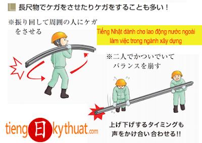 Tiếng Nhật dành cho lao động nước ngoài làm việc trong ngành xây dựng 建設業に従事する外国人労働者向け教材