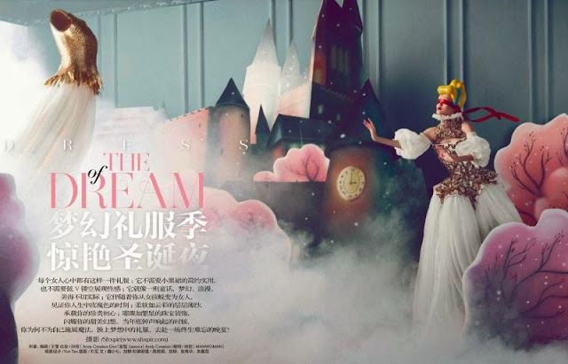 Fashion Editorial | The Dream - Yan Xu by Shxpir for Harper's Bazaar China December 2013