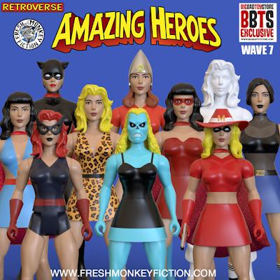 BigBadToyStore & Fresh Monkey Fiction Amazing Heroes Girl Power Wave 1