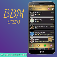 BBM MOD Black Gold Apk Download,