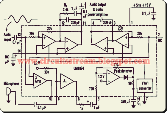 Gain-Controlled Amplifier Circuit Diagram