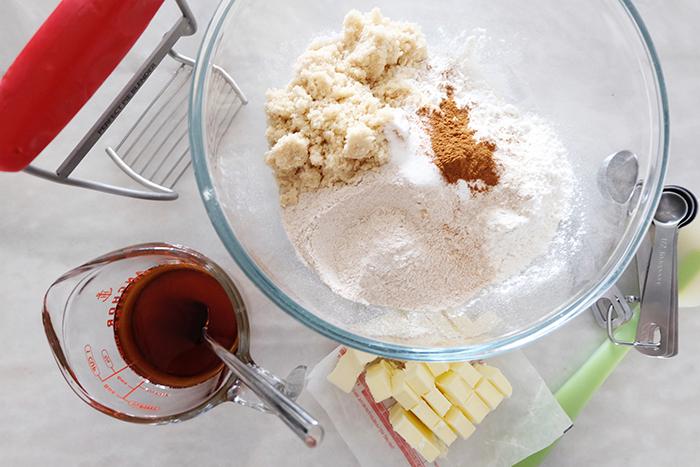 prepping ingredients for cookies