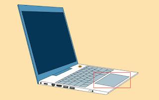 لوحة اللمس للكمبيوتر المحمول