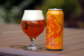 A delicious mango-y can of Tree House Julius IPA!