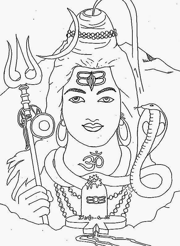 Lord Shiva Coloring Pages