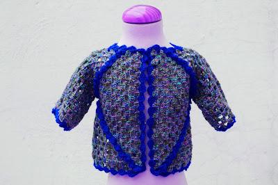 7 - Crochet IMAGEN Chaqueta de exagonos a crochet y ganchillo. MAJOVEL CROCHET