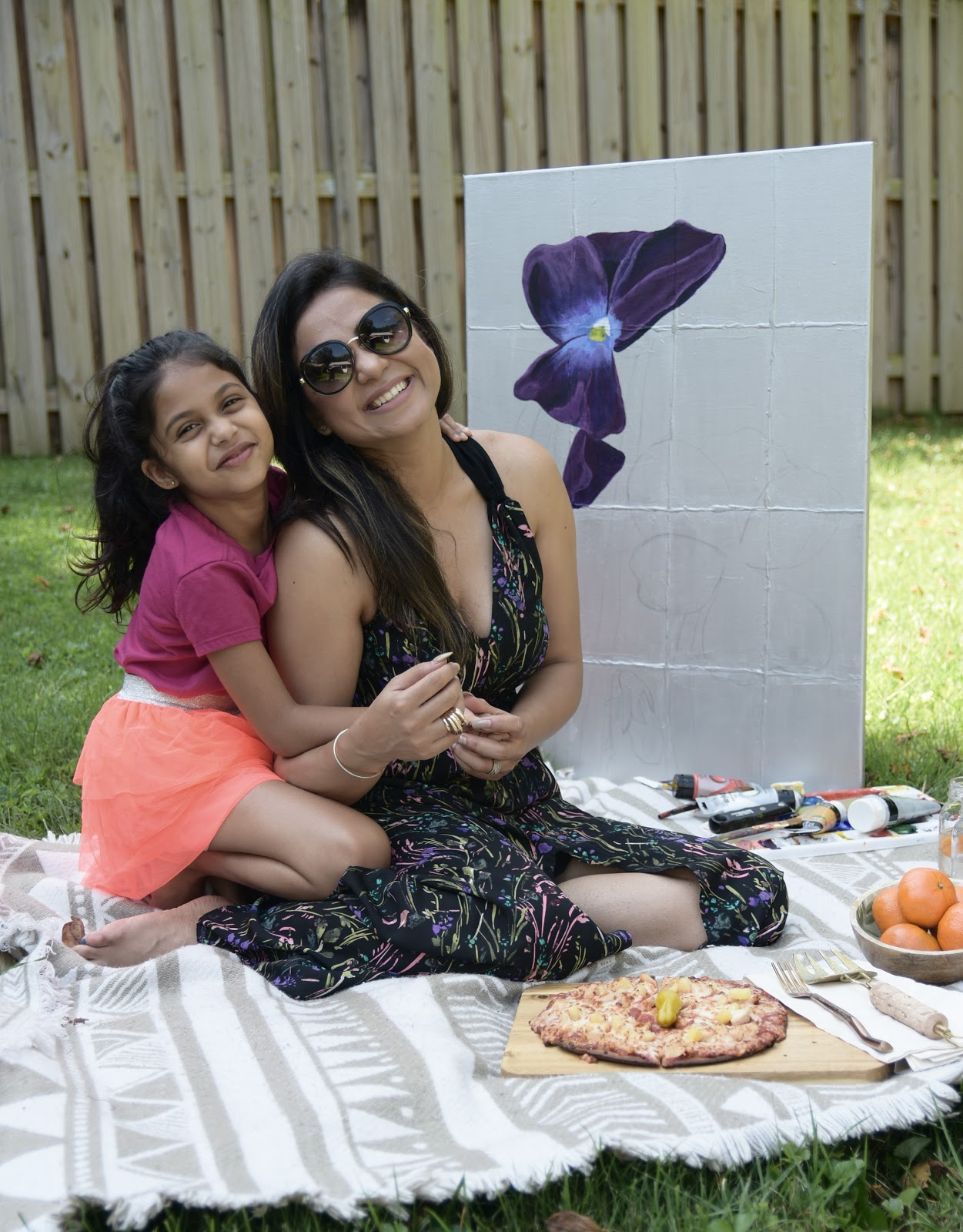 papa johns gluten free crust, paint and pizza party, mom blogger, dc blogger, pizza, gluten free diet, gluten free symtopms, what to eat, myriad musings, saumya shiohare