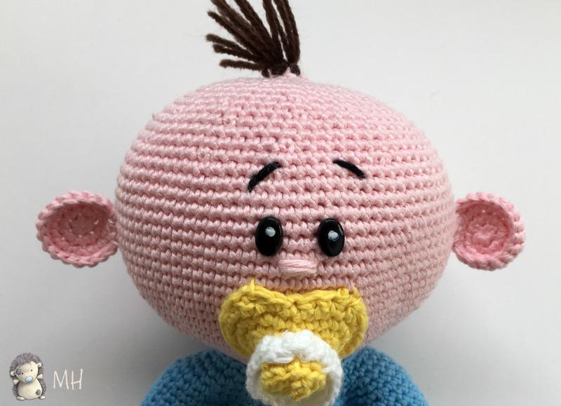 Carita de bebé amigurumi
