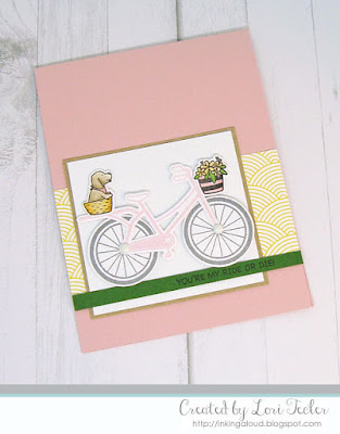 My Ride or Die card-designed by Lori Tecler/Inking Aloud-stamps and dies from SugarPea Designs