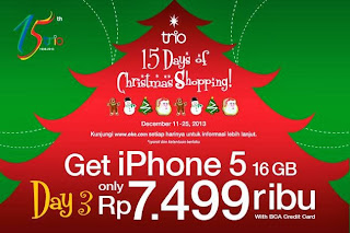 Christmas Shopping iPhone 5 16GB Rp 7.499.000