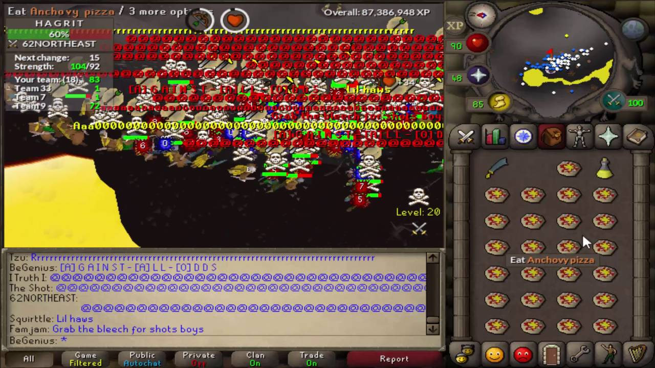 Anchovies pizza osrs