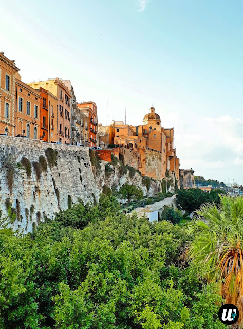 Panoramic view and Cagliari Cathedral | Sardinia, Italy | wayamaya