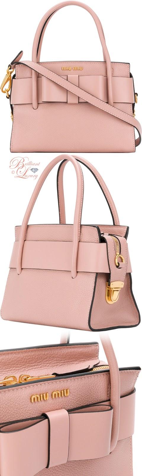 Brilliant Luxury ♦ Miu Miu bow detail mini tote bag