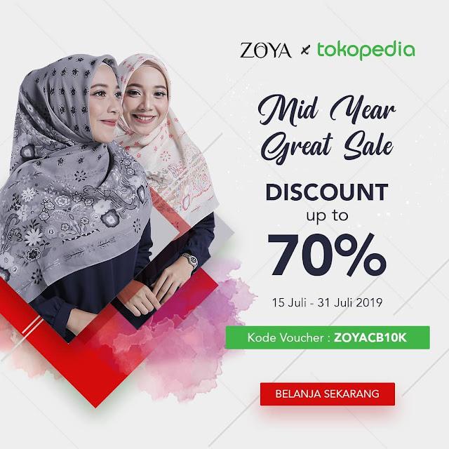#Zoya - #Promo Kode Voucher Diskon Up to 70% di Tokopedia Official (s.d 31 Juli 2019)