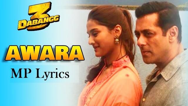 awara dabangg 3 lyrics in english | awara dabangg 3 lyrics in hindi