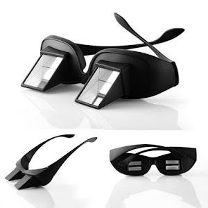 Comfortable Reading Glass Lenses Lying Down View Funny Refractive Glasses