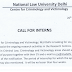 Call for Interns at National Law University, Delhi - last date 09/07/2019