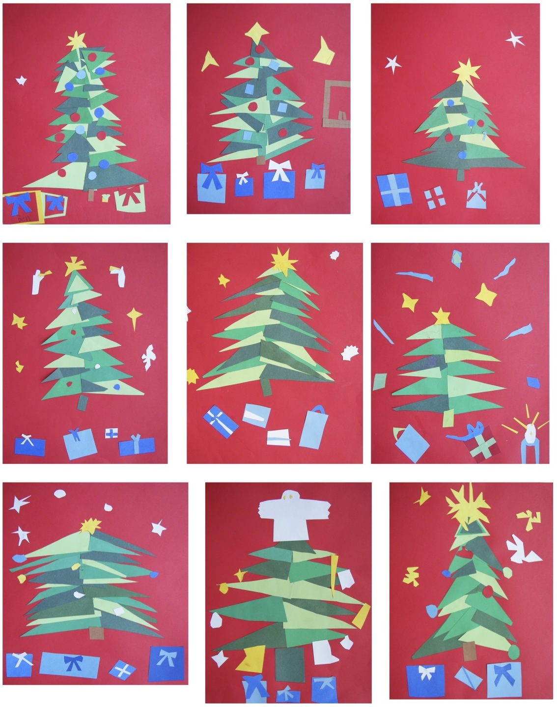 The Rolling Artroom Matisse Christmas Trees 4th 6th Grade