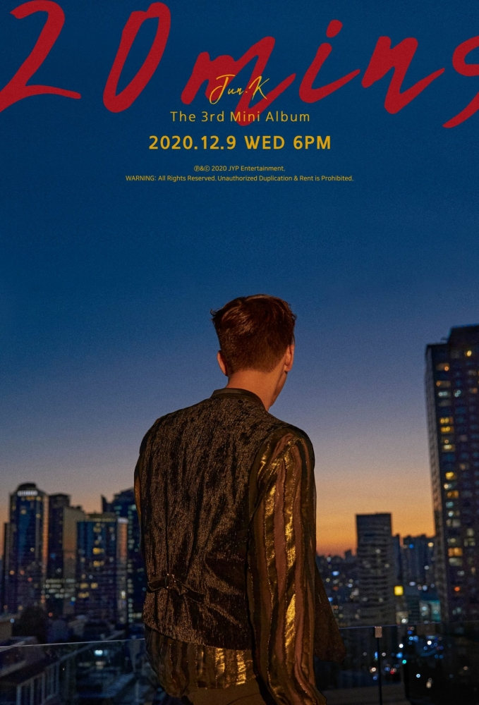 Soon to Make a Solo Comeback, 2PM's Jun.K Releases Teaser of '20 mins'