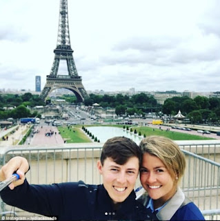 Matthew Fitzpatrick With His Girlfriend Lydia Cassada In Paris