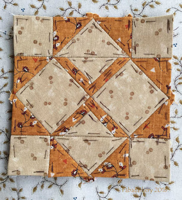 Dear Jane Quilt - Block H3 Berry's Baskets