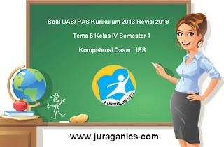 Contoh Soal UAS/ PAS Tema 5 IPS Kelas 4 Semester 1 Kurikulum 2013